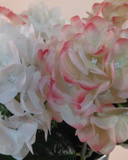 Hortensia artif. blanca/rosa