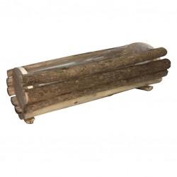 Jardinera troncos redonda 34x14x13