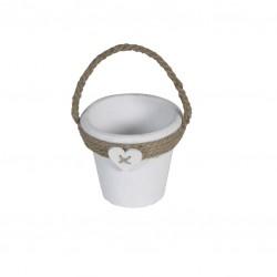 Maceta cerámica asa yute 10×10