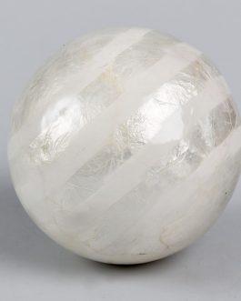 Bola capiz rayas 12 cm
