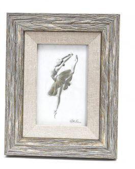 Portafoto madera/textil 15×20