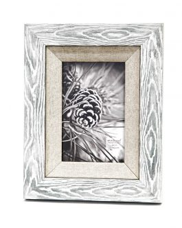 Portafotos madera/textil 10×15