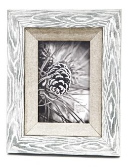 Portafotos madera/textil 15×20 cm