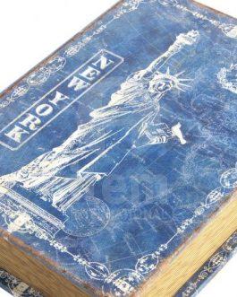 Set tres caja libro lienzo/madera ciudades