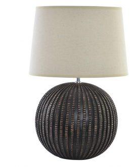 Lámpara sobremesa resina 35x35x54 cm.