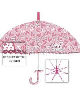 Paraguas infantil estampado corazones rosa