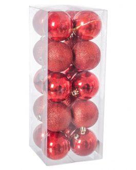 Set 20 bolas perla rojo 6×6 cm.