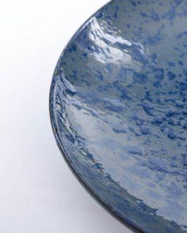 Centro cerámica azul 36x35x6 cm.