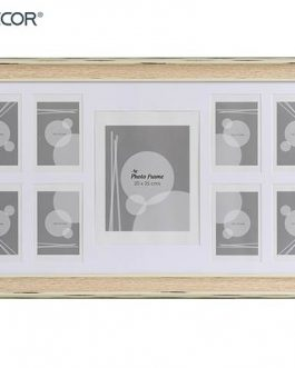 Portafotos múltiple 9 fotos madera clara