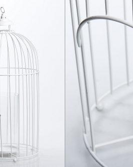 Jaula metal blanca 24x24x50 cm