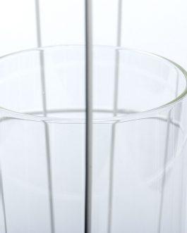 Jaula blanca metal 24x24x49 cm.