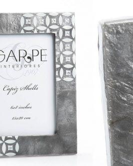 Portafoto gris/blanco 15×20