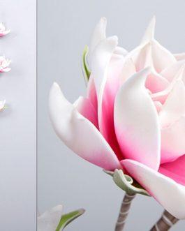 Flor foam rosa 30x12x100 cm.