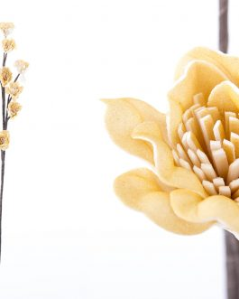 Flor foam amarilla 15x10x75 cm