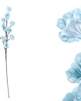Flor foam azul 15x10x75 cm