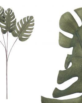 Hoja Mostera foam verde 30x30x129 cm.