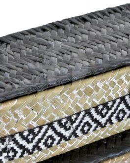Cesta fibra boho rectangular 33x14x10 cm