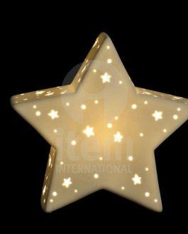 Lámpara sobremesa porcelana 27x10x25 estrella