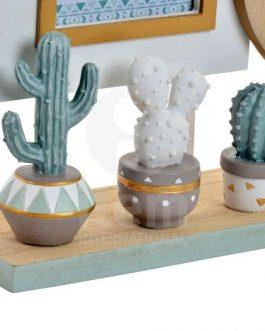Marco multifoto cactus 38x7x21 cm.