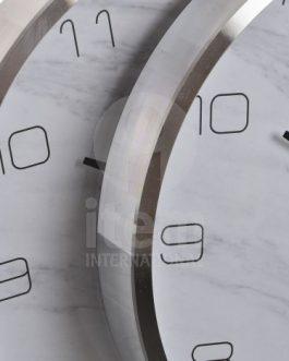 Reloj pared aluminio marmol 30×4,5×30 cm