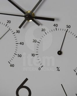 Reloj pared PVC 30x4x30 cm.