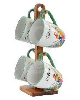 Set 4 mug tropical 300 ml.