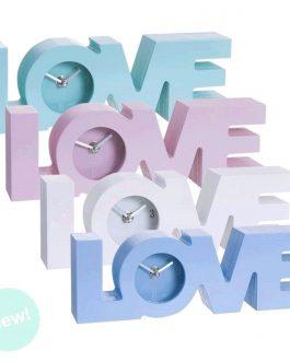 Reloj madera «love» 28×4,5×9 cm