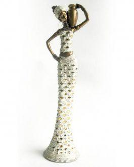 Figura africana 12x12x43 cm