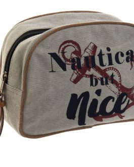Neceser canvas nautic 23x7x15 cm