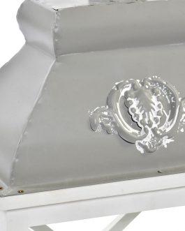 Farola abeto cristal en blanco