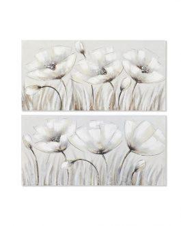 Cuadro lienzo amapolas 100×50 cm