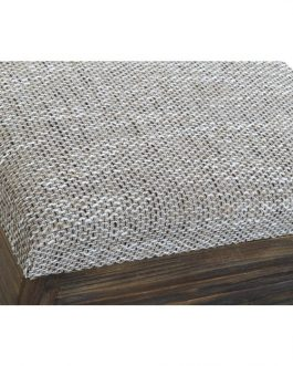 Baúl madera tapa lino