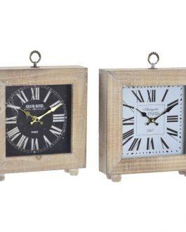 Reloj sobremesa madera 25x6x29 cm.
