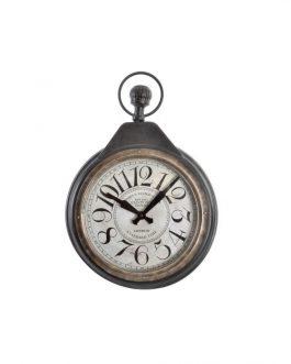 Reloj pared metal cristal 40,5x7x58,5 cm.
