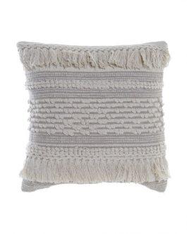 Cojín algodón beige 45×45 cm.