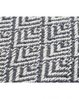 Plaid algodón pavo real 130×170 cm.