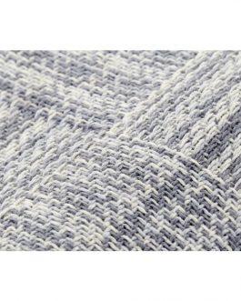 Plaid algodón flecos gris 130×170 cm.
