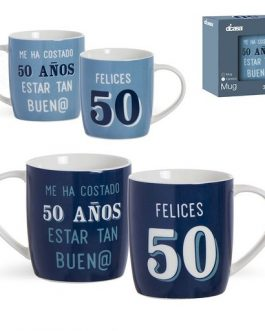 Taza cerámica 50 años.