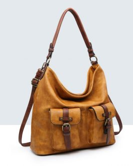 Shopper vintage doble bolsillo.