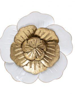 Decoración metal flor 38x5x38 cm