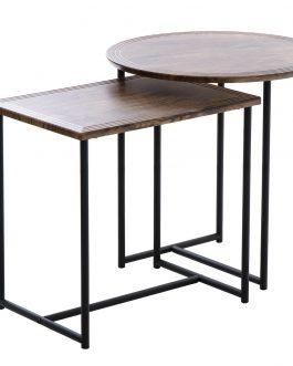 Set dos mesas auxiliares.