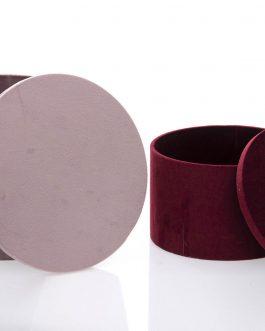 Caja redonda Velvet.
