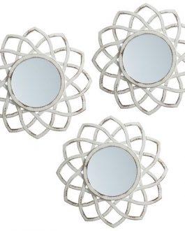 Set tres espejo crema 25x25cm