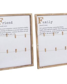 Panel pinzas Family/Friends 55×40,5 cm.