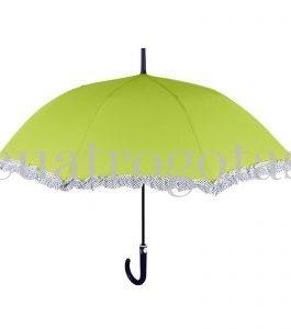 Paraguas largo liso con ribete ornamental
