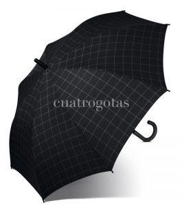 Paraguas cuadros negro.