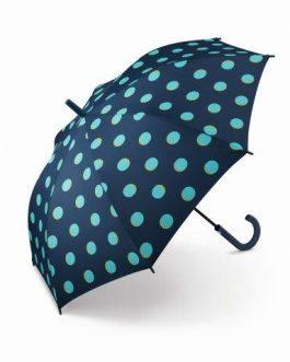 Paraguas automático puntos azules