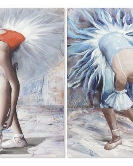 Cuadro lienzo bailarina 70x3x100 cm.