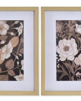 Cuadro flores 35x2x45 cm.