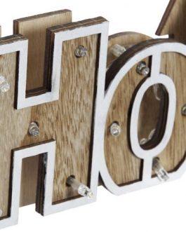 Decoración LED madera «Home» 40×3,50×12 cm.